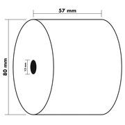 Bobine pour caisse et balance 57x80 mm - 1 pli thermique 55g/m2 sans BPA.
