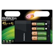 Duracell batterijlader Hi-Speed Value Charger, inclusief 2 AA en 2 AAA batterijen, op blister