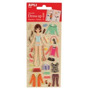 Apli Kids sticker Dress Up Brenda, blister van 5 stuks