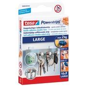 Tesa bande adhésif double face Powerstrips, charge maximum de 2 kg, blister de 10 pièces