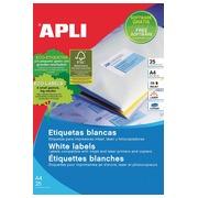Apli afneembare witte etiketten ft 25,4 x 10 mm (b x h), 4.725 stuks, 189 per blad etui van 25 blad