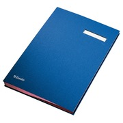 Signataire Esselte 6210 carton 20 intercalaires bleu