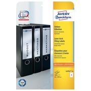 Avery Zweckform L4761-25 étiquettes pour classeurs à levier ft 19,2 x 6,1 cm (b x h), 100 étiquettes, bla