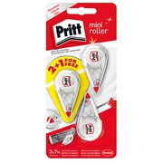 Pack 2 mini correctors Pritt 4,2 mm wide - 7 m long +1 for free