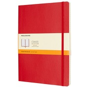 Notebook Moleskine hard cover 19 x 25 cm ivory lined 192 pages - red