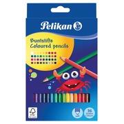 Pelikan crayon de couleur hexagonal, étui de 36 pièces en couleurs assorties