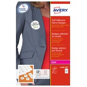 Badge laser Avery self-adhesive white Ø 51 mm - box of 240