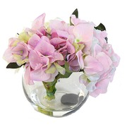 Flower piece with artificial flowers hortensia 3 colors
