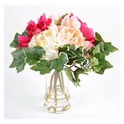Bouquet artificial flowers peonies + vase