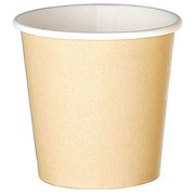 Cups kraft in disposable cardboard 10 cl - set of 100