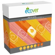 Ecological diswashing tablets Ecover All in 1 - Box of 68 tablets.