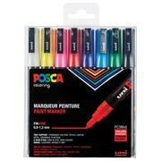 Posca marqueur de peinture PC-3M, set de 8 marqueurs en couleurs basique assorties