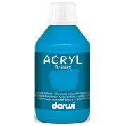 Darwi peinture acrylique brillante, flacon de 250 ml, bleu clair
