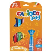 Carioca feutre Baby Teddy, boîte de 12 pièces en couleurs assorties
