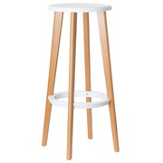 Paperflow set de 2 tabourets de bar Woody, blanc