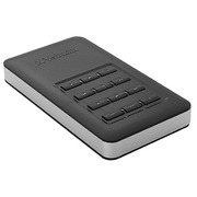 Draagbare SSD-schijf 256 GB Verbatim Store'n'Go beveiligd met code