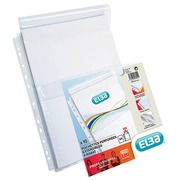 Perforated sleeves with bellows Elba A4 PVC 20/100e - pack of 10