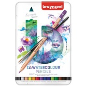 Bruynzeel crayons à aquarelle Expression, boîte de 12 pièces