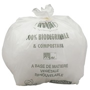 Garbage bag white 80 L biodegradable ATOUBIO - box of 200