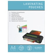 Box of 100 transparent sleeves for warm lamination - A4 80 micron