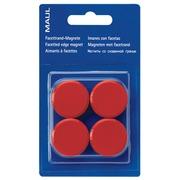 Maul aimant MAULsolid, diamètre 38 mm, rouge, blister de 4 pièces