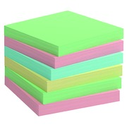 Repositionable notes recycled colored Bruneau 75 x 75 mm - box 12 blocks of 100 sheets