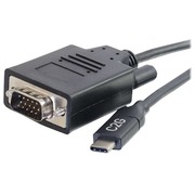 C2G 2.7m (9ft) USB C to VGA Adapter Cable - Video Adapter - Black - externer Videoadapter - Schwarz