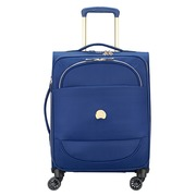 Trolley cabin luggage slim expendable 4 double wheels 55 cm Delsey blue
