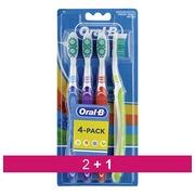 Pack 2 +1 toothbrush Oral B 123 medium - set of 4