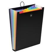 Trieur polypropylène vertical Viquel Rainbow 6 divisions noir