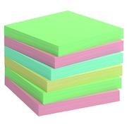 Z-notes repositionnables recyclées assorti pastel Info Notes 75 x 75 mm - bloc de 100 feuilles