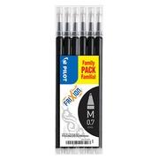 Refill for erasable ballpoint pen Pilot FriXion medium point 0,7 mm black - sleeve of 6
