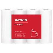 Katrin rouleau d'essuie-tout Classic, 2 plis, 50 feuilles par rouleau, paquet de 4 rouleaux