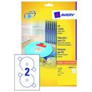 Etiquette CD Avery L6043-100 blanc 200 pièces