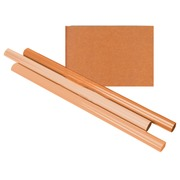 Papier d'emballage kraft à rayures 60g 100cmx10m rouleau