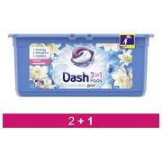 Pack 2 + 1 Lessive Pods Dash 2 en 1 Fleur de lotus - 29 doses