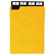 Paquet de 24 guides alphabétiques en carte à onglets métalliques, pour fiches 210x148mm