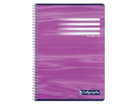Notebook Calligraphe spiral A4 100p small checkered 5x5