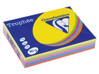 Clairefontaine Trophée, ream of 500 sheets, A4, 80 g, 5 assorted bright colours