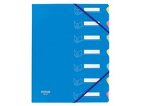 Sorting folder in 2 materials Extendos 7 divisions blue