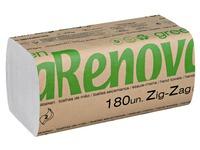 Papier essuie-mains recyclé pliage enchevêtré Renova Green - Carton de 5400