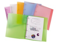 Customizable polypropylene files 4 rings back 35 mm assorted pastel translucent