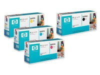 Pack von 4 Tonerkartuschen HP 124A Schwarz + Farbig