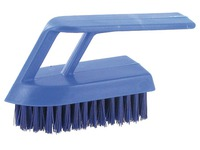 Brosse à ongles Gamme professionnel polyester largeur 13 cm bleue