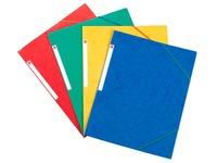 Chemise à élastique 3 rabats carte Bruneau 24 x 32 cm dos 2,5 cm couleurs assorties