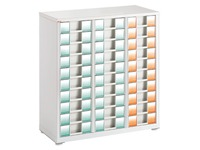 White filing cabinet Clen 3 columns 30 drawers 9 cm