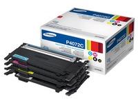 Pack 4 toners zwart + kleuren Samsung CLTP-P4072C
