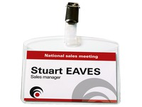 Badges Avery with clip 60 x 90 mm - Box of 25