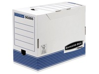 Filing boxes with back of 20 cm white and blue