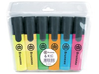 Highlighter Bruneau assorted colors - sleeve of 6